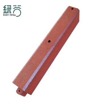 Rubber baffle strip for walkway